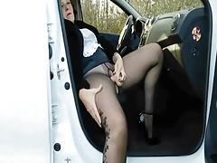 Dildofuck on a public parking