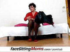 Big natural tits lady Greta with a boy czech facesitting