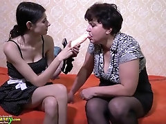 OldNannY Huge Compilation of Lesbian Sex Toy Play