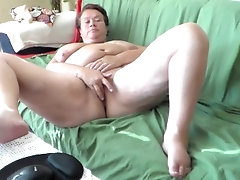 Jen is Masturbating on the Sofa