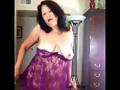Mature bbw woman belly, butt, breast. 1st nude appearance, dance