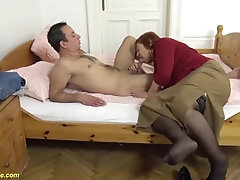 79 years old mom fucked by stepson
