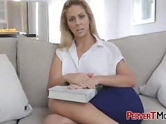 Lonely stepmom helping a huge anaconda unleash cum