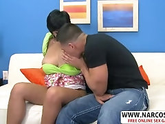 Curvy New Mama Reina Lee Gives Blowjob Hard Her Step-son