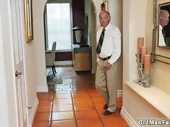 Old man landlord Molly Earns Her Keep