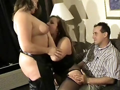 2 thick MILFs in a 3some (p2)