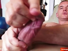 Marc, French mature straight guy serviced by us in spite of him