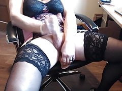 Horny stroking in new Lingerie