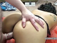 Latina wife Dolly Naught takes a dick in her plump pussy
