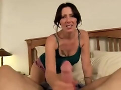 Busty Stepmom Rides Her Stepson's Big Dick - Watch Part2 on HotCam3x.com