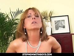 StepmomWithBoys - Sexy Blonde Mom Sucks And Fucks Her Stepson