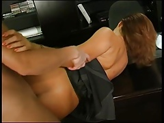 Lady boss seduces guy