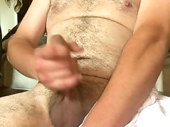 Stroking uncut dick  20 year old