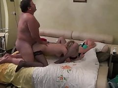 moustached daddy fucks two young girls