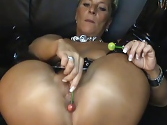 Mature milf gets fuck by lollipop