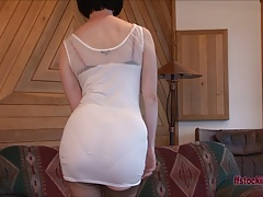 FFstockings - Mature lady's upskirt sheer panty show