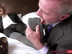 Kinky bearded stallion Joel Someone moans while toe licked