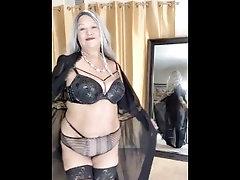 Sexy Mature Latina woman, doing a strip tease