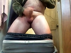 Diaper wet and jack off