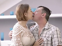 OLD4K. Dad knew the best way to relax cute girlfriend with big tits