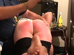 Humiliating spanking for woman