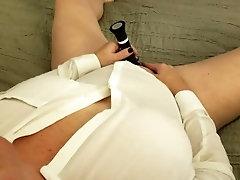 POV masturbating to orgasm with wet panties