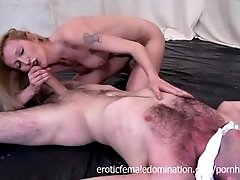 Nude Matrue Women Wrestles Her Man