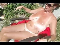 Stepson's Revenge - Carrie Moon and Julien Blanc - outdoor public handjob
