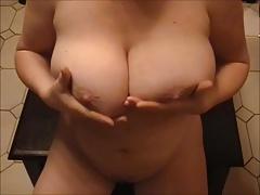Squirt on big Tits