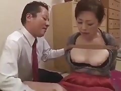 Japanese milf in bondage action.