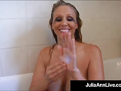 Busty Blonde Milf Julia Ann Smokes Her Cigs Soaking In Tub!