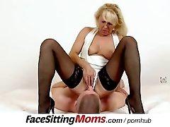 Sexy stockings legs mom Koko Margit muff diving during facesitting
