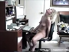 My mom enjoying herself at PC. Hidden cam