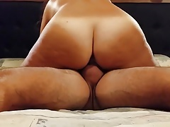 Chubby wife gets hard banged by horny daddy