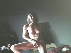 Mature cumming hard while standing