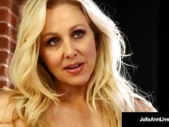 Mega Hot Milf Julia Ann Soaks Her Panties in Pussy Juice!