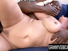 Granny Vs BBC - Juicy Mature Jessica Hot Spreads Wide for a Thick Dark Dick