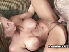 Busty wife Leeanna Heart takes a cock in her mature twat