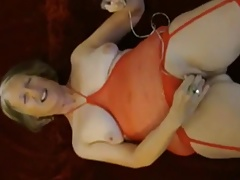 cumslut sue palmer gives herself a giant orgasm