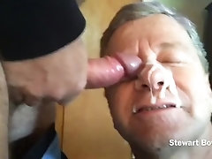 Stewart Bowman sucks off hard cock, huge facial