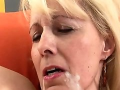 Blond Granny Fucks Black Cock