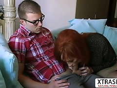 Horny Step Mom Diamond Red Gives Titjob Well Tender Dad's Friend