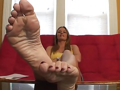 Julia displaying soles.
