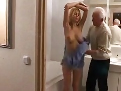 mature dude with younger blonde