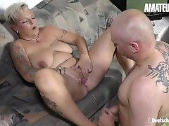 DeutschlandReport - Amateur German Mature Rough Pussy Fuck With Horny Guy