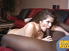Cock Sucking June Summers Gets Blacked