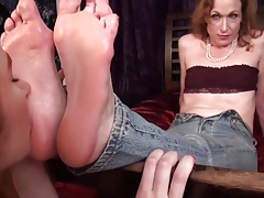 Neice Worships aunts mature soles