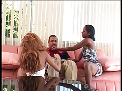 Black stud eats pussy while getting his cock sucked then fucks