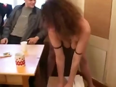 russian milf stripping and fucking 6 boys 1