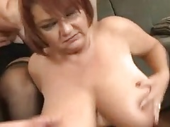 Hot cougars sharing a tasty cock
